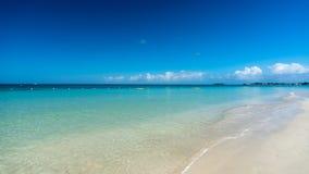 Sju mil strand Jamaica arkivbilder