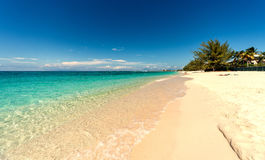 Sju mil strand på storslagen kajman Arkivbilder