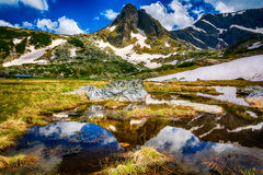 Sju Rila sjöar i Bulgarien royaltyfria foton