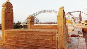 Sju systers kyrkogård på Sukkur, Sindh - Pakistan Arkivbild