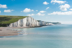 Sju systrar nationalpark, England royaltyfri fotografi