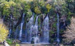 Sju vattenfall Arkivbild
