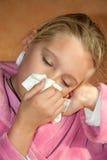 sjuk flicka Royaltyfri Fotografi