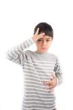 SJUK kommunikation för ASL-teckenspråk royaltyfri bild