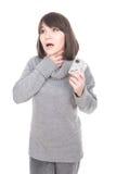 sjuk kvinna Arkivfoto
