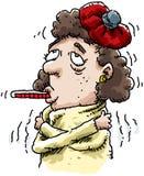 sjuk kvinna Arkivfoton