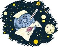sjuk planet för jord vektor illustrationer