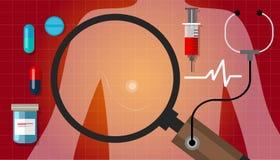 Sjukdom för bot för hälsovård för anatomi för bröstcancerkvinnaläkarbehandling medicinsk stock illustrationer