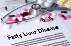 Sjukdom för fettig lever arkivbilder
