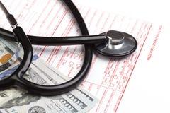 Sjukförsäkringreklamationsform Royaltyfri Bild