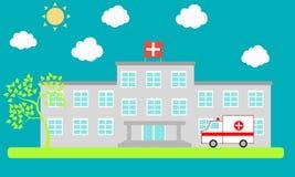 Sjukhus stock illustrationer