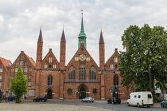 Sjukhus av den heliga anden i Luebeck, Tyskland arkivbild