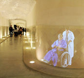Sjukhus de Sant Pau hologram Arkivfoto