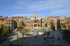 Sjukhus de Sant Pau i Barcelona, Spanien Royaltyfria Bilder