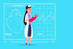 Sjukhus för arbetare för kliniker för moderskap för kvinnlig flicka för doktor Hold Newborn Baby medicinskt vektor illustrationer