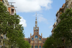 Sjukhus i Barcelona Royaltyfria Bilder