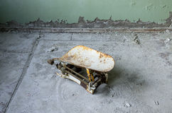 Sjukhus i den Pripyat staden som överges efter den Tjernobyl katastrofen Royaltyfria Bilder