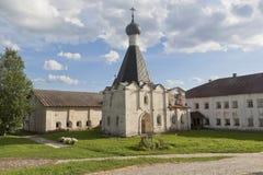 Sjukhus kyrkliga Euphemia av tusen dollar i den Kirillo-Belozersky kloster Arkivfoton
