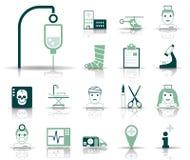 Sjukhus & nödläge - Iconset - symboler vektor illustrationer