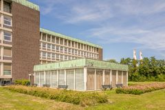 Sjukhus som bygger Reinier de Graaf Hospital i Voorburg Royaltyfria Foton