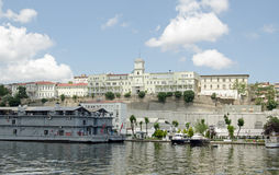 Sjukhus som förbiser det guld- hornet, Istanbul Arkivfoton