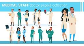 Sjukhus Team Clinic Banner för doktorer samling för grupp medialt royaltyfri illustrationer
