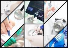 Sjukhusarbete. arkivfoto