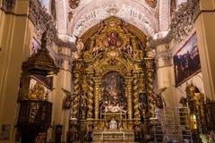 Sjukhusde la caridad kyrka, Seville, Spanien Arkivfoton