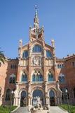 Sjukhusde-la Santa Creu I Sant Pau i Barcelona Arkivbilder