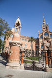 Sjukhusde-la Santa Creu I Sant Pau i Barcelona Arkivfoto