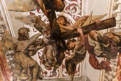 Sjukhusde los venerables kyrka, Seville, Andalusia, Spanien Royaltyfria Bilder