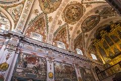 Sjukhusde los venerables kyrka, Seville, Andalusia, Spanien Arkivbilder