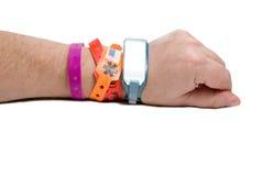 SjukhusID-armband Fotografering för Bildbyråer