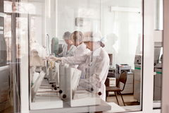 Sjukhuslaboratorium royaltyfria bilder