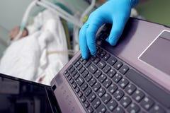 Sjukhusledningbegrepp arkivfoton