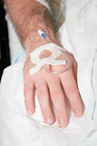 sjukhusmanligtålmodig Royaltyfria Bilder