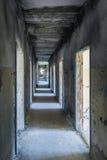 Sjukhuspassage i Skrunda, Lettland arkivfoton
