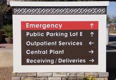 sjukhussignage Arkivbild