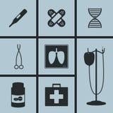 Sjukhussymboler stock illustrationer