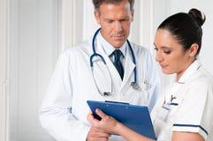 sjukhusworking Arkivfoto