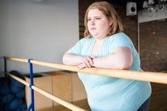 Sjukligt fet ballerina arkivfoton