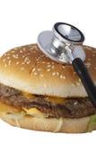 sjukligt hamburgaresnabbmat Royaltyfri Fotografi