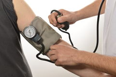 Sjuksköterskaövervakningblodtryck Arkivfoton