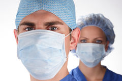sjuksköterska för 2 doktor Arkivbild