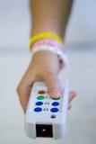sjuksköterska för knappfelanmälanssjukhus Arkivbild