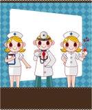 sjuksköterska för korttecknad filmdoktor Arkivfoto