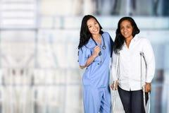 Sjuksköterska i sjukhus Arkivbilder