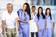 Sjuksköterska och tålmodig arkivfoto