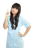 sjuksköterska som pekar något Fotografering för Bildbyråer