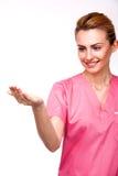 Sjuksköterska som ser den fördjupade armen Fotografering för Bildbyråer